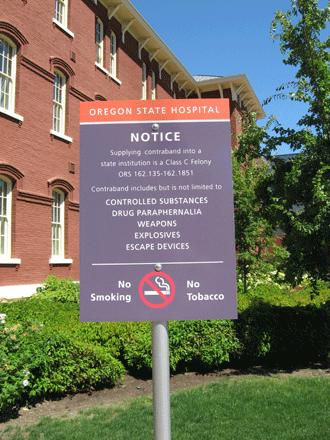 Warning Sign at the Asylum