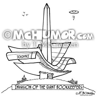 2145 Bookkeeper Cartoon