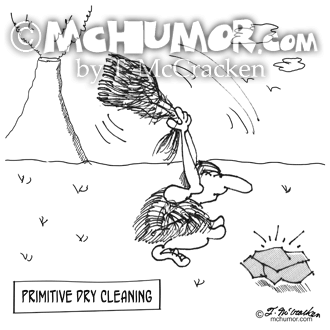 2892 Dry Cleaning Cartoon