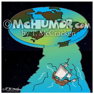 7540 Flat Earth Cartoon