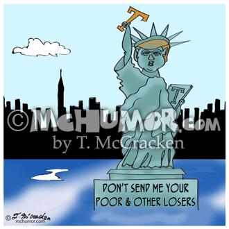 9489 Statue Of Liberty Cartoon