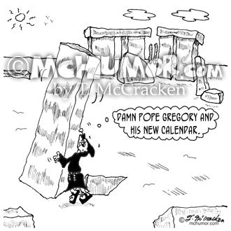 9466 Gregorian Calendar Cartoon