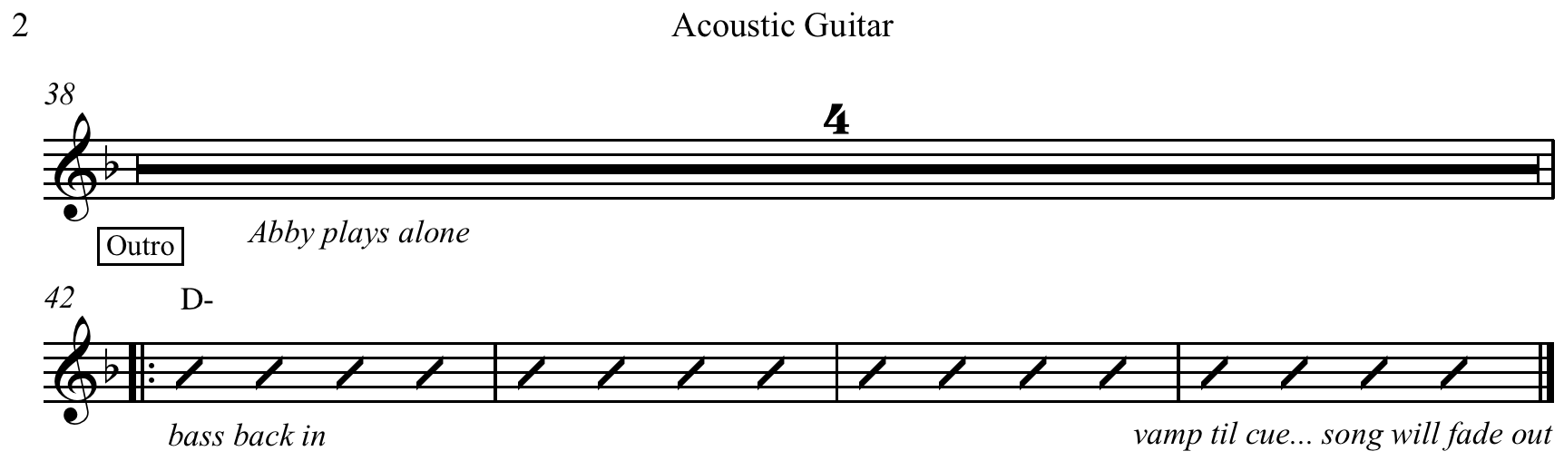 A Basic Guitar Chord Chart Example 2