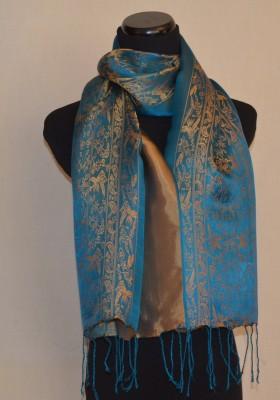 Royal Blue Silk Satin Scarf