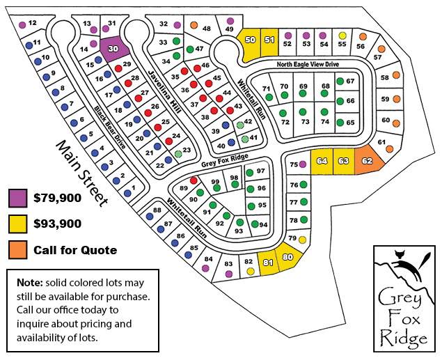 Grey Fox Ridge Lots