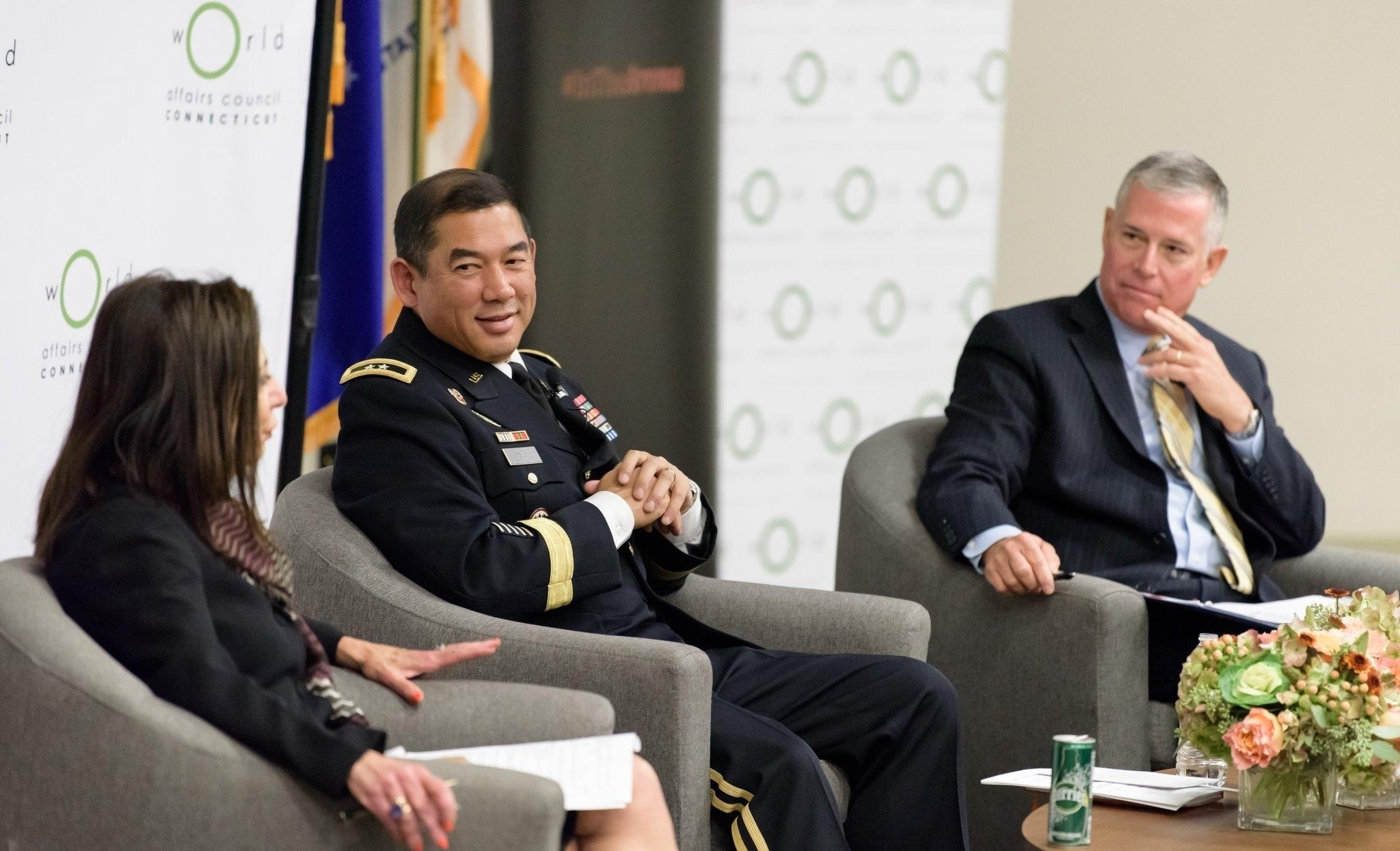 General Casey at podium