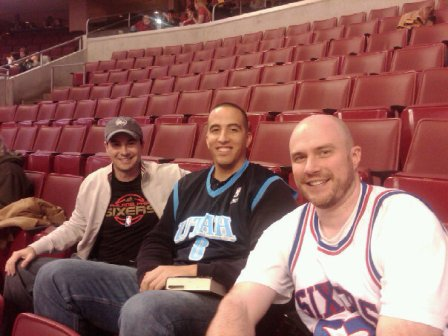 This was taken during the game.  Obviously Jazz-76ers was a hot ticket.