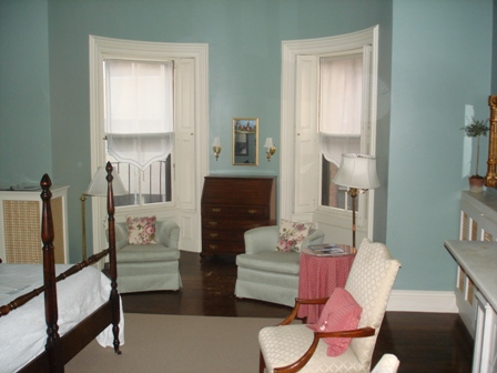 My room in Boston.  Seems more appropriate for tea with women in 1798 than for solitary self-loathing in 2009.