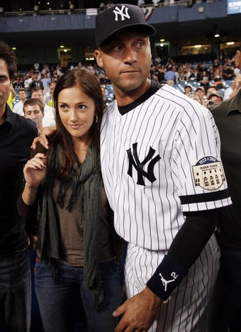 He just won the world series - what could possibly make him look so serious- oh, sorry Minka, didn't see you there.