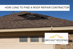 ROOF REPAIR CONTRACTOR TIME PERIOD