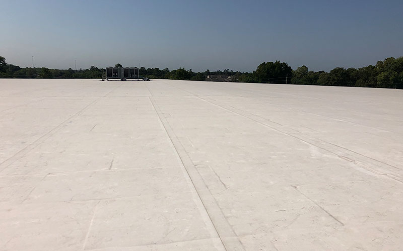 Leak detection services for a commercial roofing customer