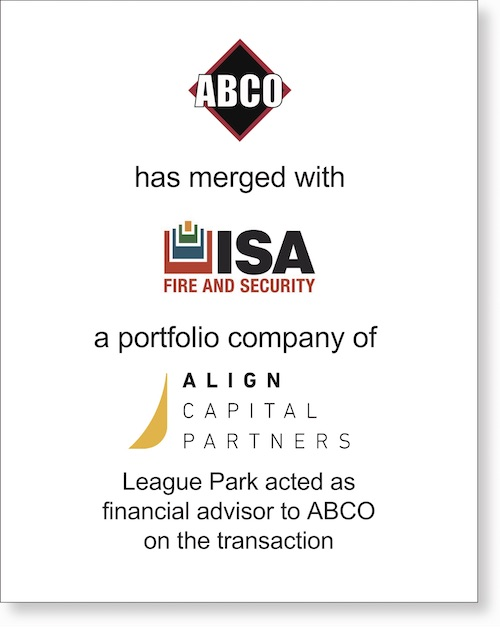 ABCO Merger Tombstone