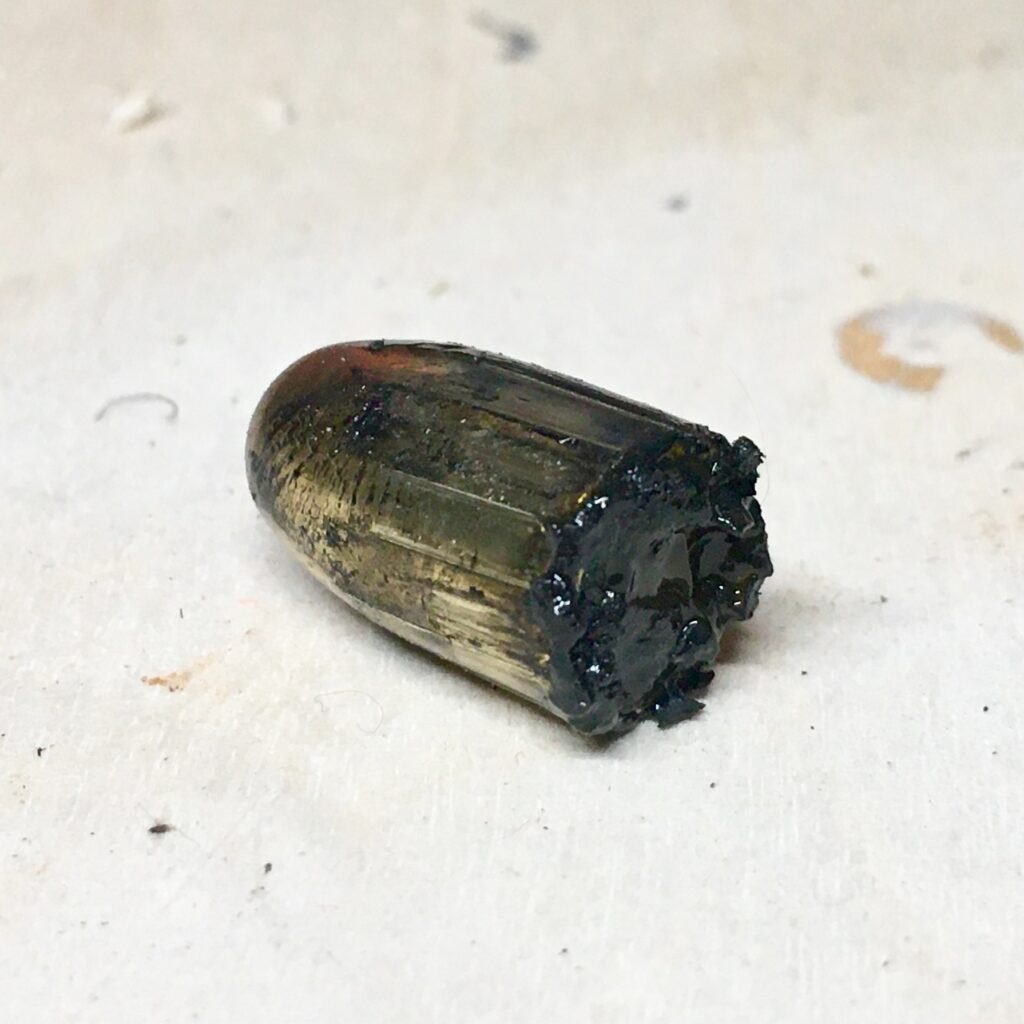 The bullet that had been lodged int the barrel after firing a squib load.