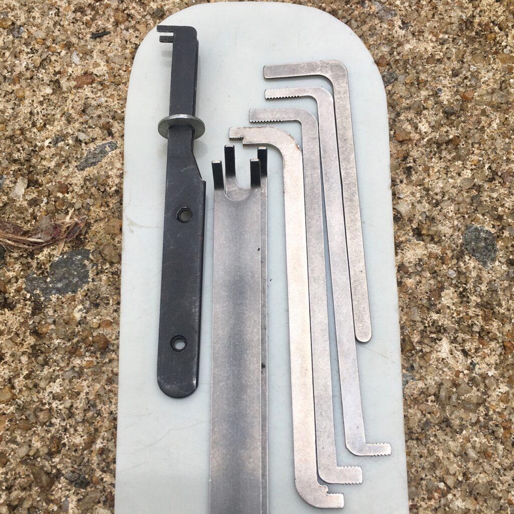 Tension tools found in my generalist lockpicking kit.