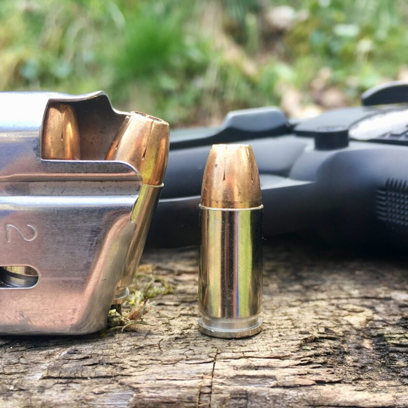 Loaded 9mm 1911 magazine