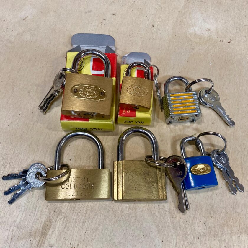 Foreign padlocks in my lock library.