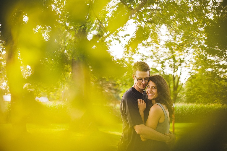 photo of couple in beautiful leaves in freeland