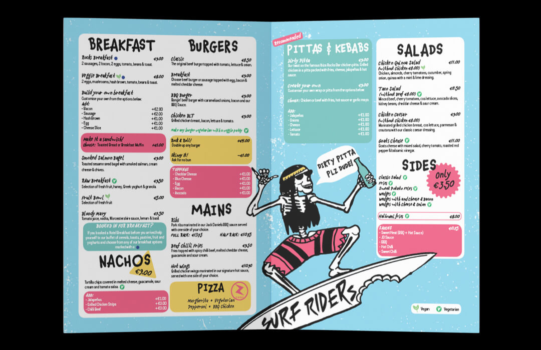Surf Riders | Restaurant Menu