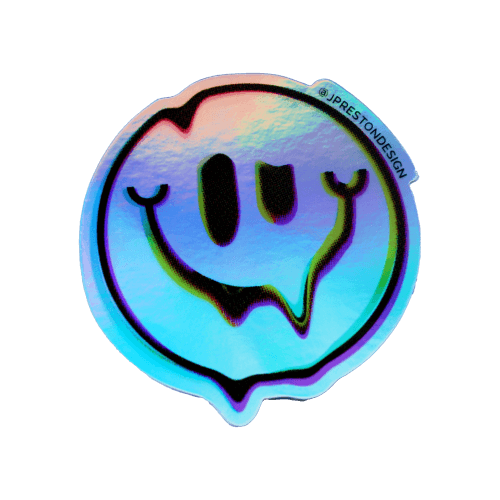 Smiley Holographic Sticker