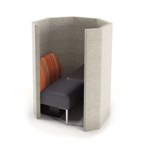 seating pod with upholstered walls