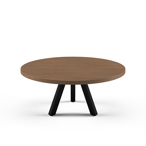 tiny round wooden table
