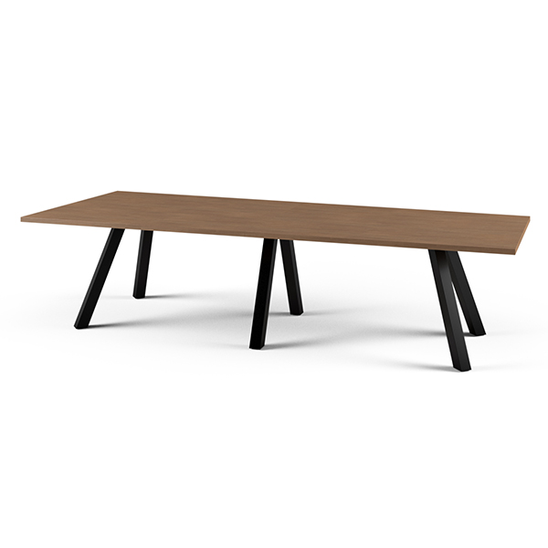 long wooden conference table