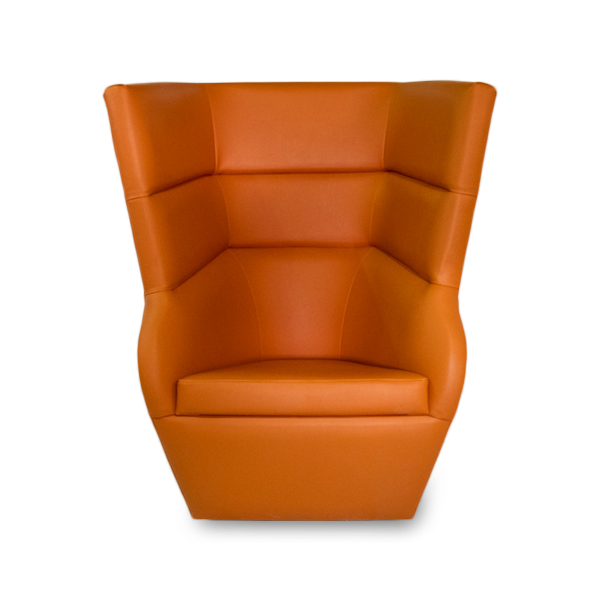 orange spaceship chair