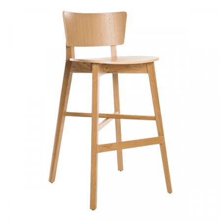 simple wood barstool