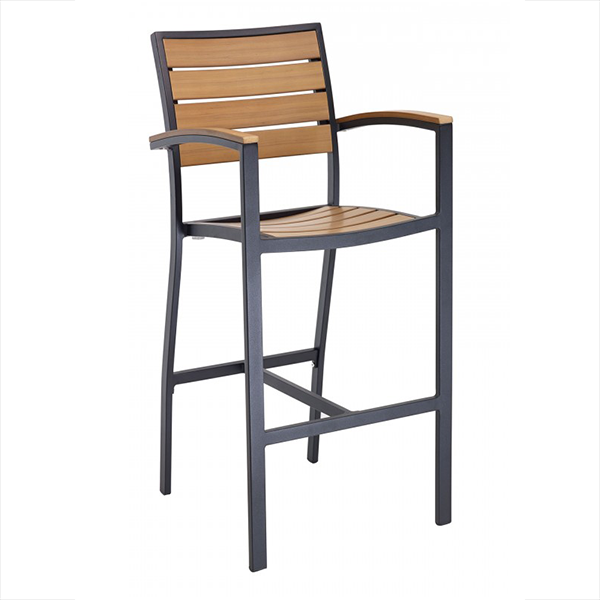 Outdoor barstool with armrests