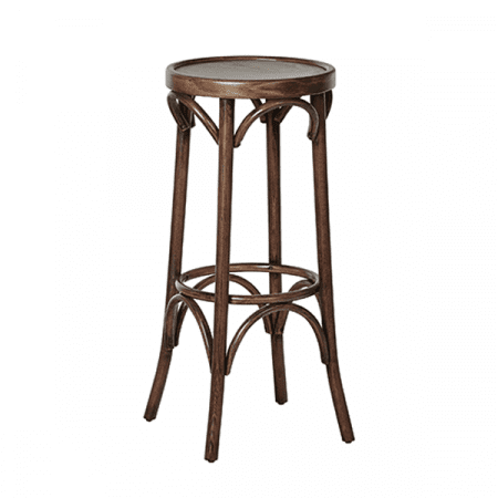 decorative wooden barstool
