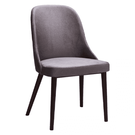 gray upholstered wooden chair