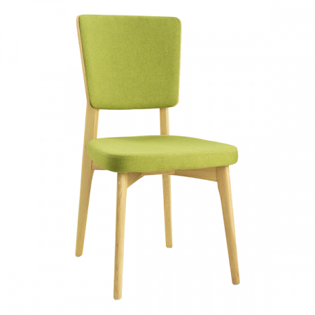 green wooden dining chair