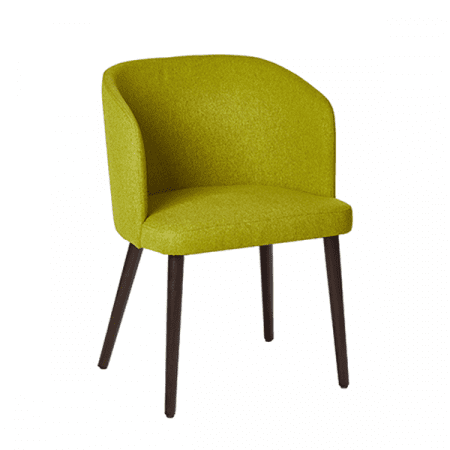 retro chartreuse upholstered chair