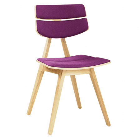 upholstered minimalist wood chair
