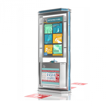 digital display center with personal protective equipment