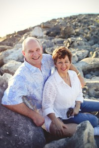 Dr. Marcy and her husband Robert at the beach.