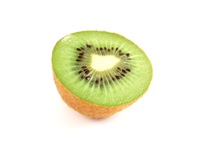 Kiwi are great sources of antioxidants, fiber, potassium, and vitamins A, C and E.