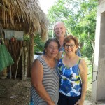 Dr. Marcy and her husband Robert with a Mayan friend
