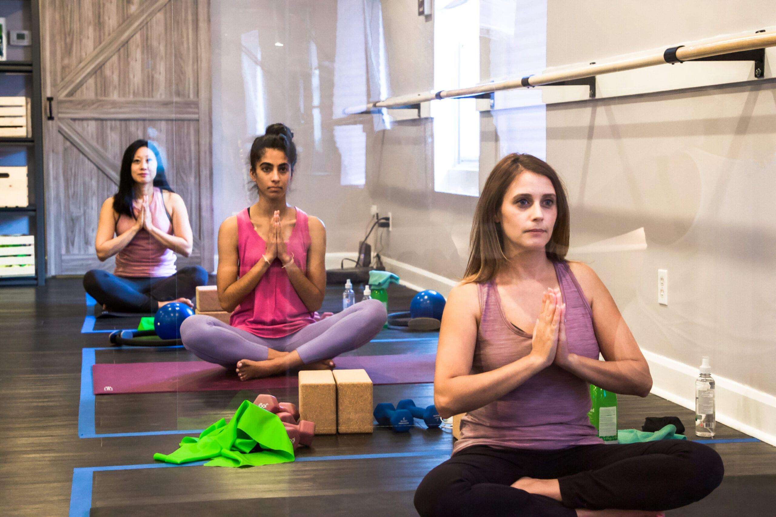 Chill yoga class groove barre