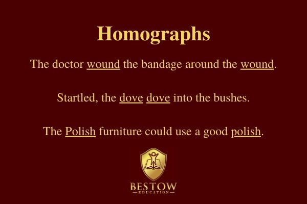 Why is English so difficult? Homographs definition and examples