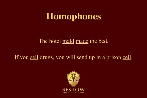 Why is English so difficult? Homophones definition and examples