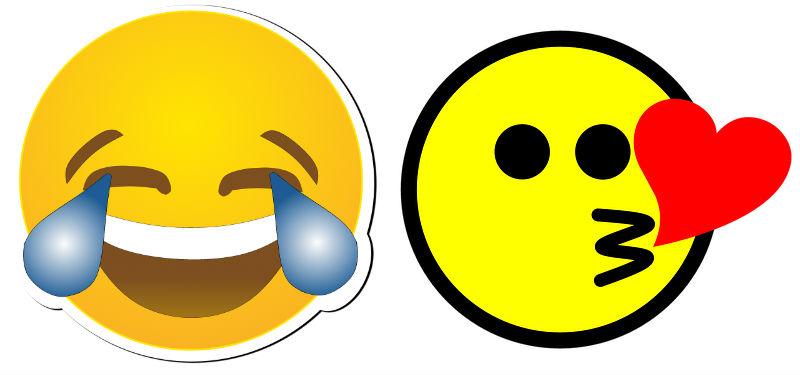 Laughing Kiss Emoji Confusion Bestow Education
