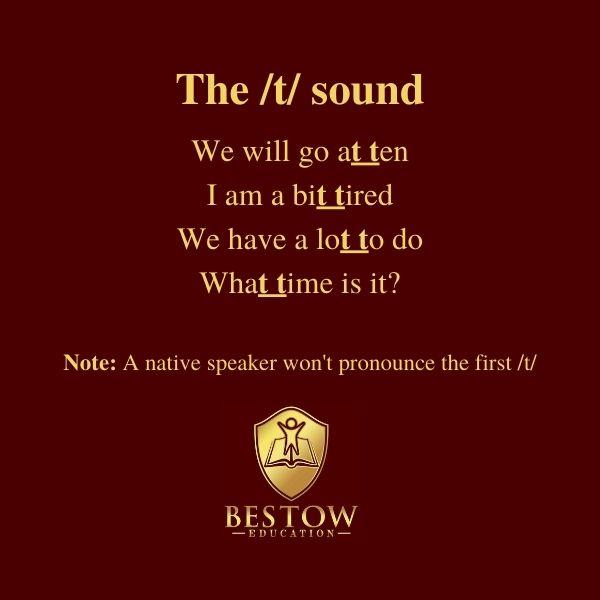 Connective Speech t sound Bestow Education