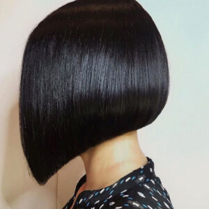 hair services haircut black hair angled bob