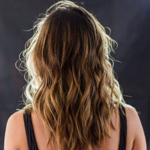 hair services blond color balayage treatment