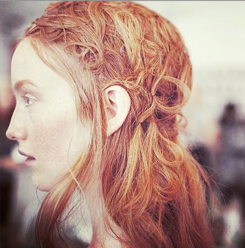 copper red hair