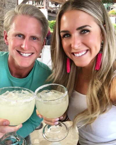Enjoying Welcoming Margaritas