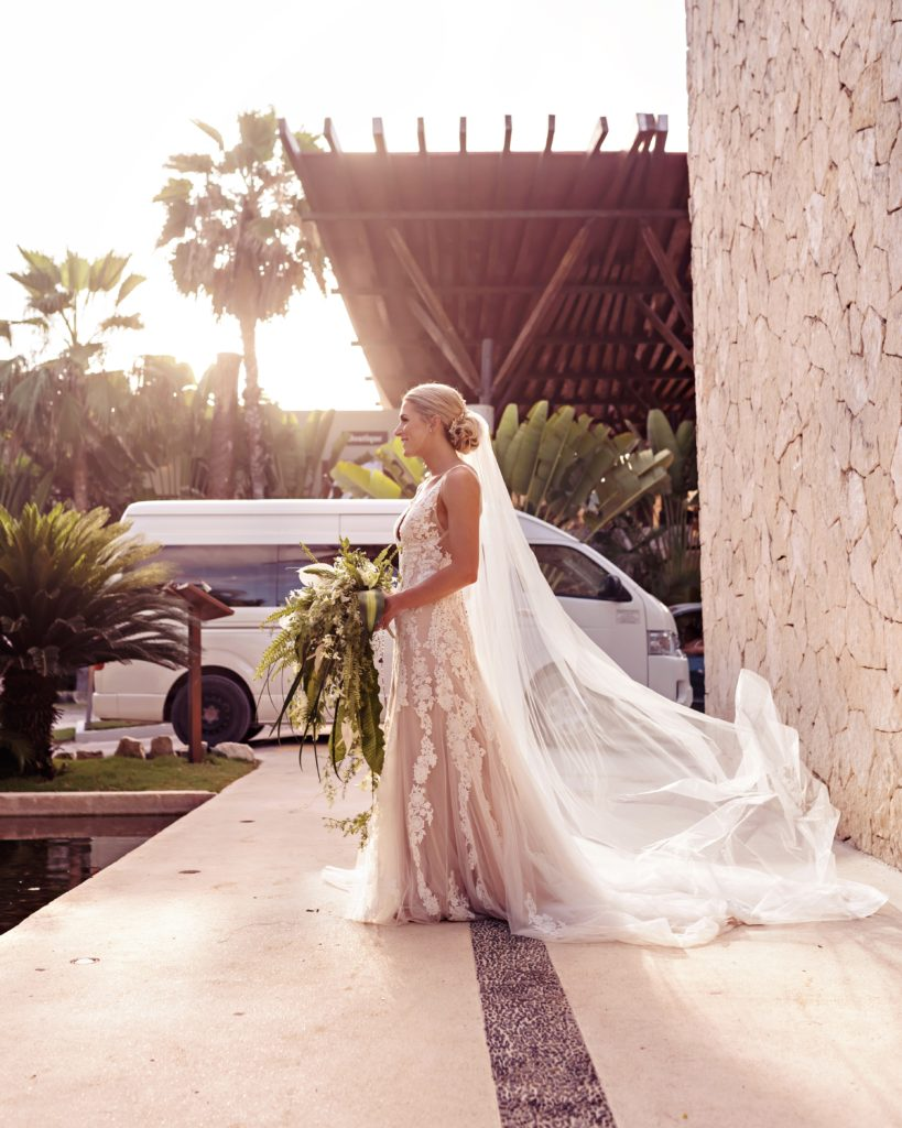 Mallory Ennis on her wedding day