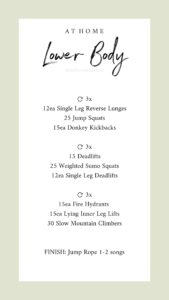 Free leg workout