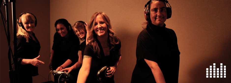 Photo of In the studio with the Hoving Home Choir